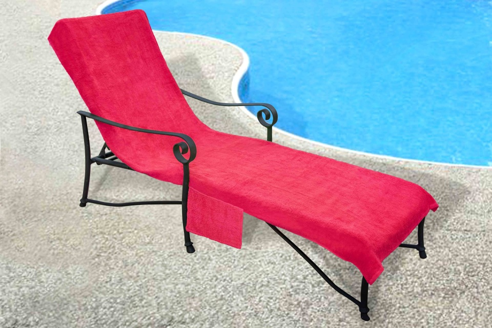 Pool side 1000 gram chaise cover pool lounge chair cover for Chaise lounge cover towel